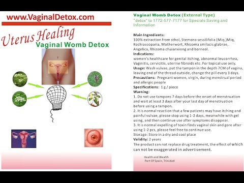 Vaginal Womb Detox Herbal Tampons For Women It Works