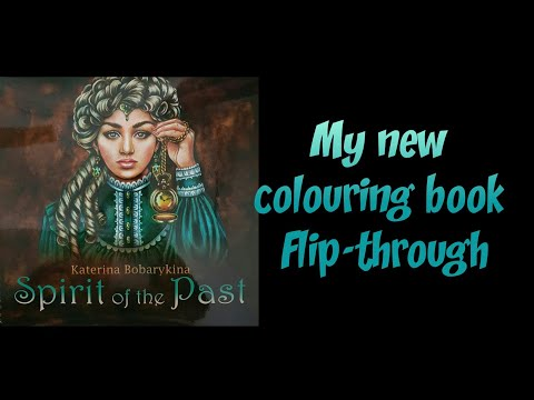 Flip-through Coloring Book Spirit Of The Past