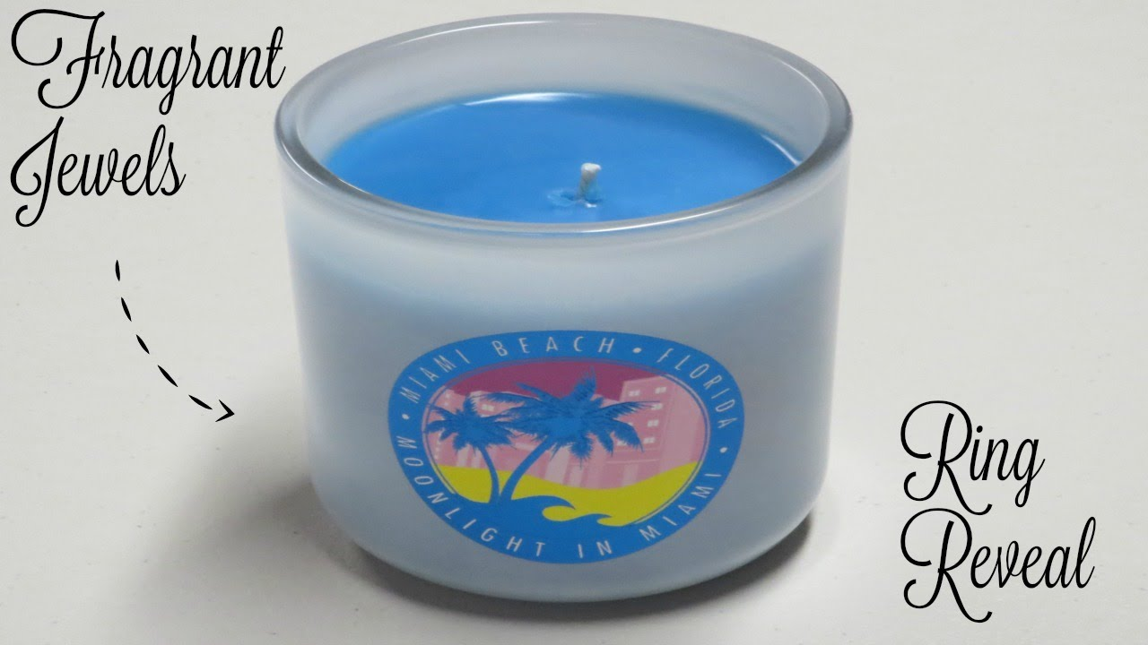 Fragrant Jewels Ring Reveal   Moonlight In Miami Candle!