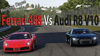 Forza Motorsport 6 - DRAG RACE: Audi R8 V10 Plus 2016 Vs Ferrari 488 GTB