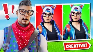 *IMPOSSIBLE* GUESS THE RIGHT SKIN CHALLENGE (Fortnite Creative Mode!)