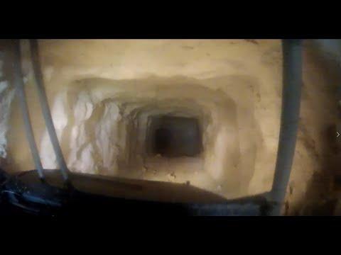 Driving underground in an abandoned uranium mine