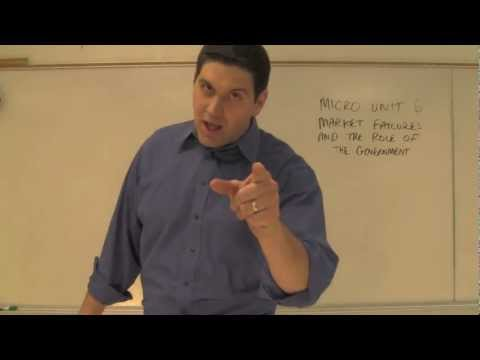 Micro Unit 6 Intro- Market Failures and the Government