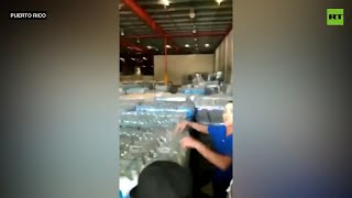 Puerto Ricans break into warehouse full of supplies unused since 2017