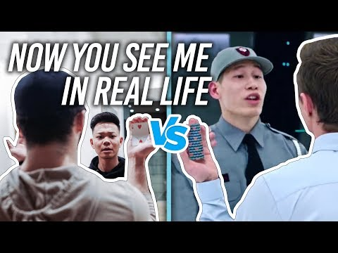 Now You See Me VS REAL LIFE CARD SCENE RECREATED
