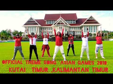 Meraih Bintang By Via Vallen / Zumba Fitness,Official Song Asian Games 2018 , Sangatta, Kutai Timur