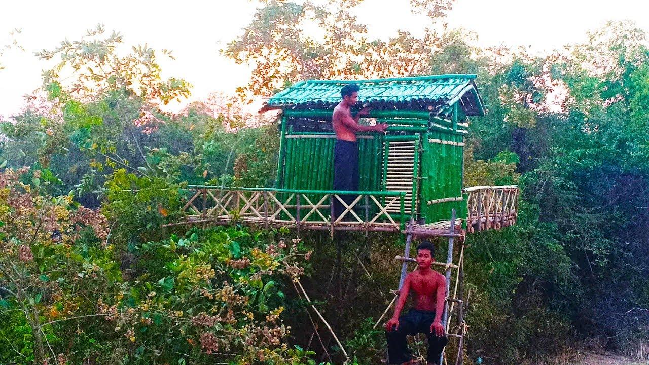 Building Beautiful Highest Bamboo House  -  Bamboo Villa