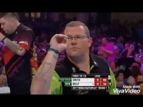 Michael Smith VS Steve West Highlights World Matchplay 2017