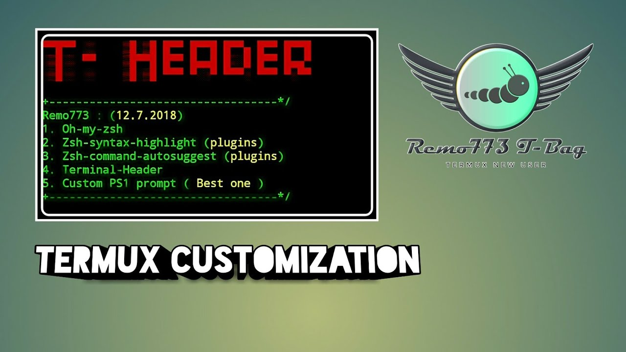 How to customize termux with t-header script