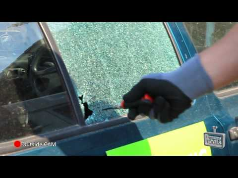 Destroy a car window in less than a second