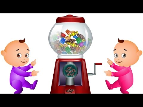 Five Little Babies Playing With Ball Machine -  JamJammies Kids Songs & Rhymes By Videogyan