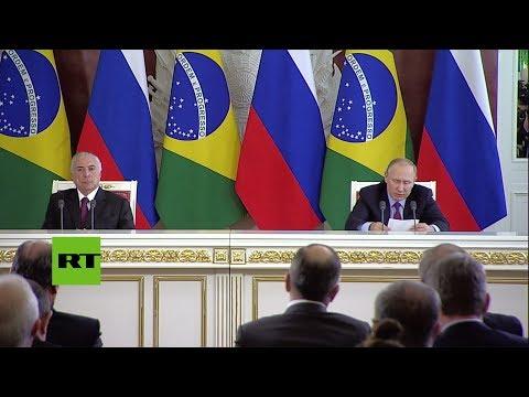Reunión entre Putin y Temer: Firma de cuatro documentos