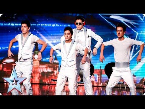 Tumar KR bend over backwards to impress the Judges  Auditions Week 5  Britains Got Talent 2016