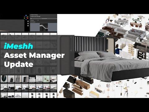 Blender DIY Asset Manager Update!!! iMeshh Asset Manager
