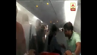 Video Smoke engulfs inside Air Asia plane after technical snag download MP3, 3GP, MP4, WEBM, AVI, FLV Juni 2018