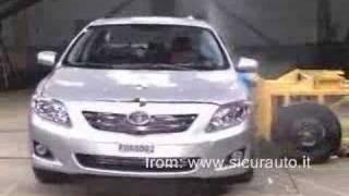 Crash Test 2008 Toyota Corolla / Toyota Fielder / Toyota Runx  / Toyota Verso / Toyota Altis Euroncap 40 MPH Frontal Offset Test