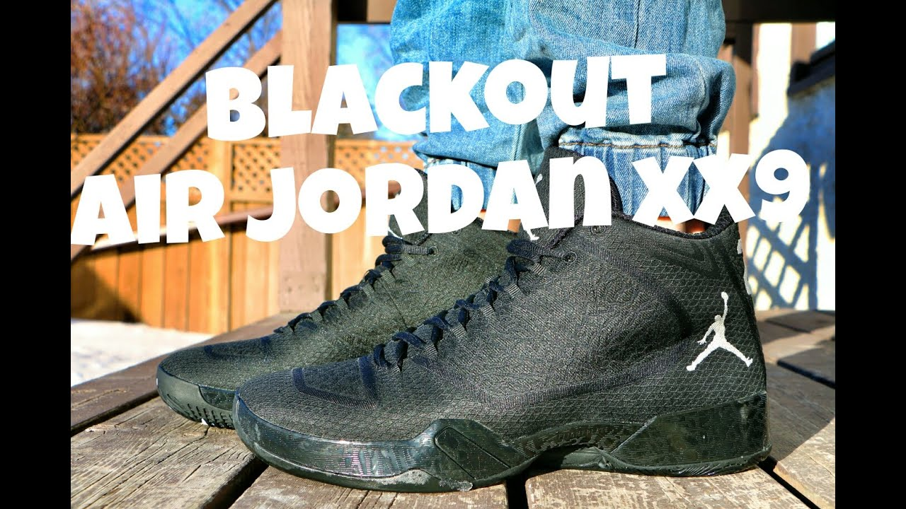 air jordan 29 blackout on feet