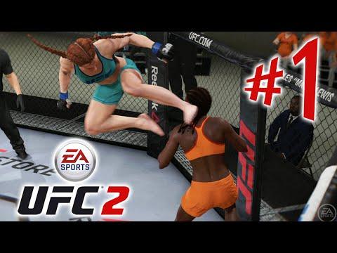 UFC 2. Carreira Feminina. Parte 1. Início Meteórico!  Playstation 4. Playthrough PT.BR