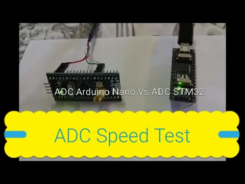 ADC STM32F103C8 Vs Atmega328 (Arduino IDE)  Speed Tests