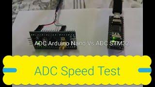 ADC STM32F103C8 Vs Atmega328 (Arduino IDE)  Speed Tests