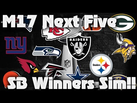 Madden 17 Next 5 Super Bowl Winners Predicted! Madden 17 Franchise Simulation!