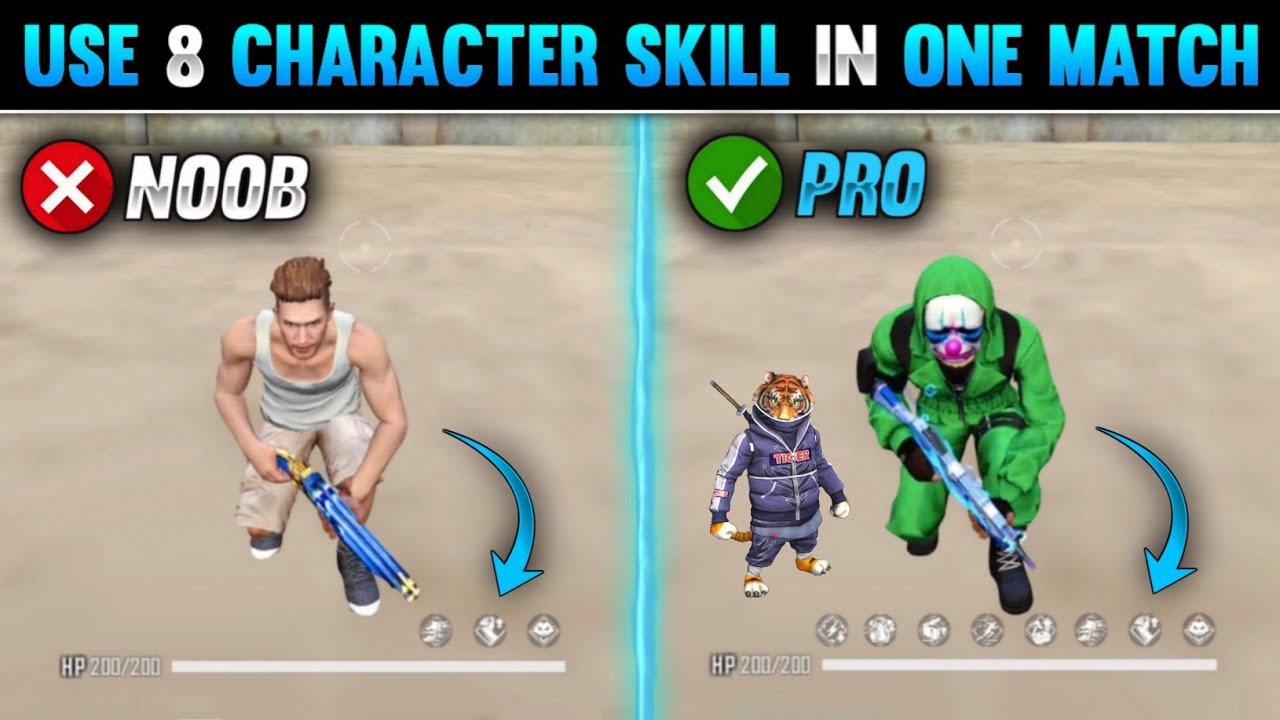 Download TOP 5 NEW TRICKS IN FREE FIRE | USE 8 CHARACTER SKILL IN FREE FIRE | FREE FIRE TIPS AND TRICKS