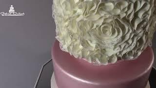 свадебный торт шар цветов
