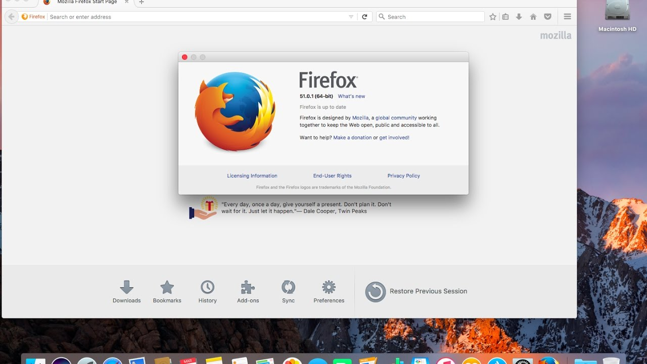 How to update firefox on a Mac