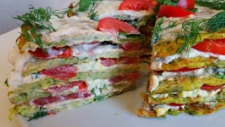 Торт из Кабачков. Обалденная закуска из кабачков. Вкуснейшая закуска. Cake from Kabachkov