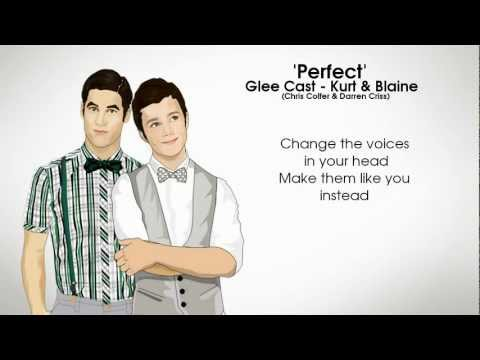 GLEE - Perfect (Kurt & Blaine)(Lyrics)