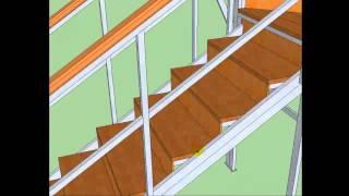 Как самому сделать шикарную лестницу в доме построенному своими руками.(Как самому сделать шикарную лестницу в доме построенному своими руками http://sam-sebe-dom.com/ Посмотрев видеоурок..., 2014-08-26T04:57:10.000Z)