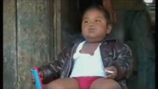 Indonesian baby on 40 cigarettes omg a day parody song