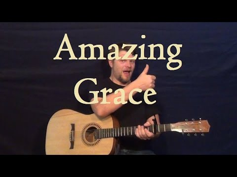 Amazing Grace Hymn Easy Guitar Strum Chords Fingerstyle Melody