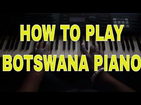 How to Play Botswana  Music on Piano  African Piano tutorials Kay Benyarko