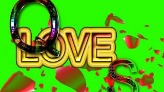 Q Love S Letter Green Screen For WhatsApp Status | Q & S Love,Effects chroma key Animated Video