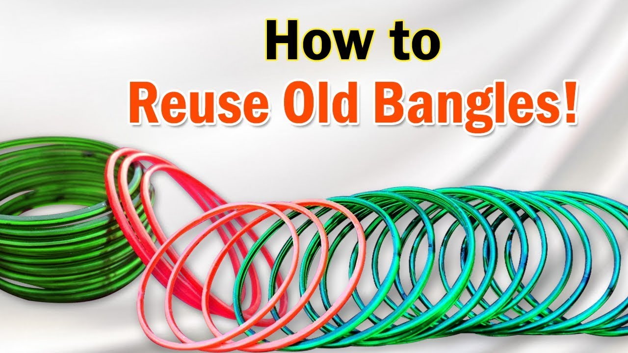 Old bangle craft ideas reuse waste bangles for home for Best out of waste ideas from bangles