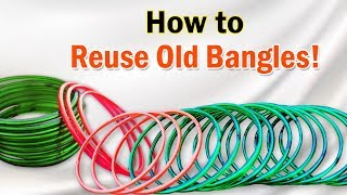Old Bangle Craft Ideas | Reuse Waste Bangles for Home Decoration | Easy Best Out of Waste Craft