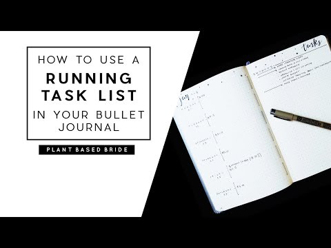 BULLET JOURNAL WEEKLY LAYOUT: HOW TO USE THE RUNNING TASK LIST / ROLLING  WEEKLY | PLANT BASED BRIDE