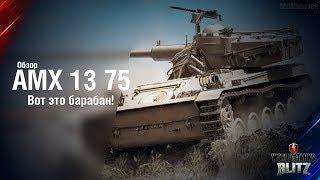 Обзор AMX 13 75 - Вот это барабан! [WoT: Blitz]