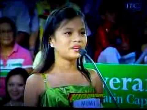 Best child singer - little celine dion - because you loved me