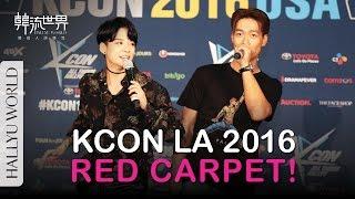 KCON16LA: Red Carpet with Lee Minho, TTS, BTS, I.O.I, SHINee, Amber, ASTRO, G-friend, TWICE (*CC中字)