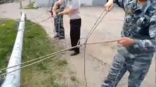 Закрепление спасательной верёвки за конструкцию 4-м способом