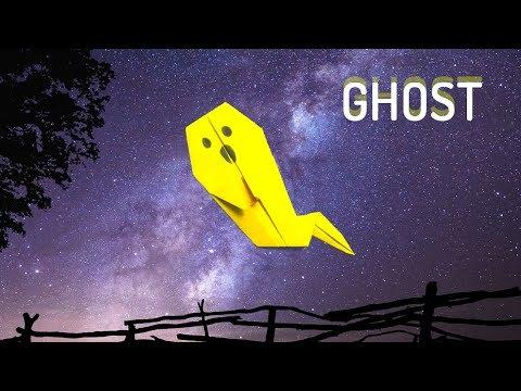 Paper Halloween Ghosts - Easy Origami Ghost Tutorial - Great for Kids - Halloween DIY - DIY School