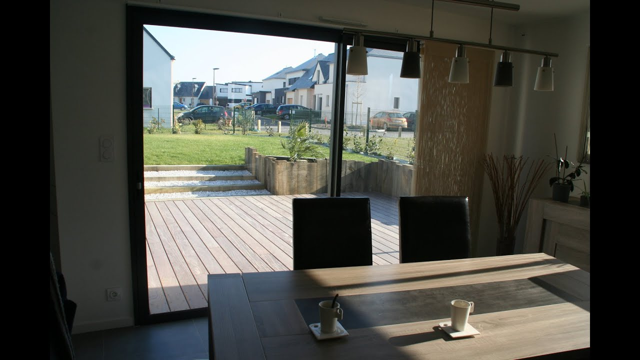 Amnagement terrasse cheminement et soutnement pour une maison contemporaine  YouTube