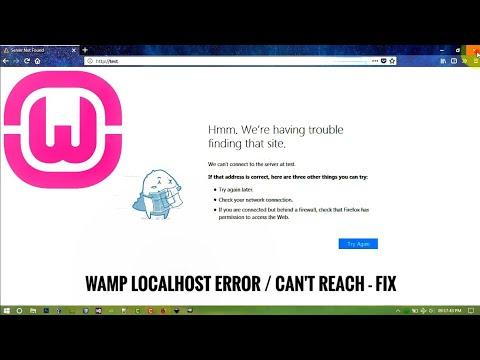 Can't Reach Localhost In WAMP Server / Localhost Error - Fix .