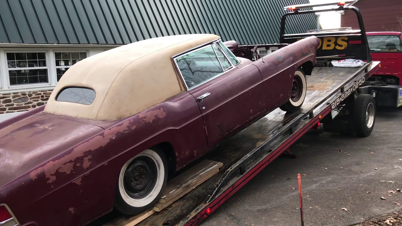 Barn Find 1956 Lincoln Continental Victoria Coupe One Of A Kind