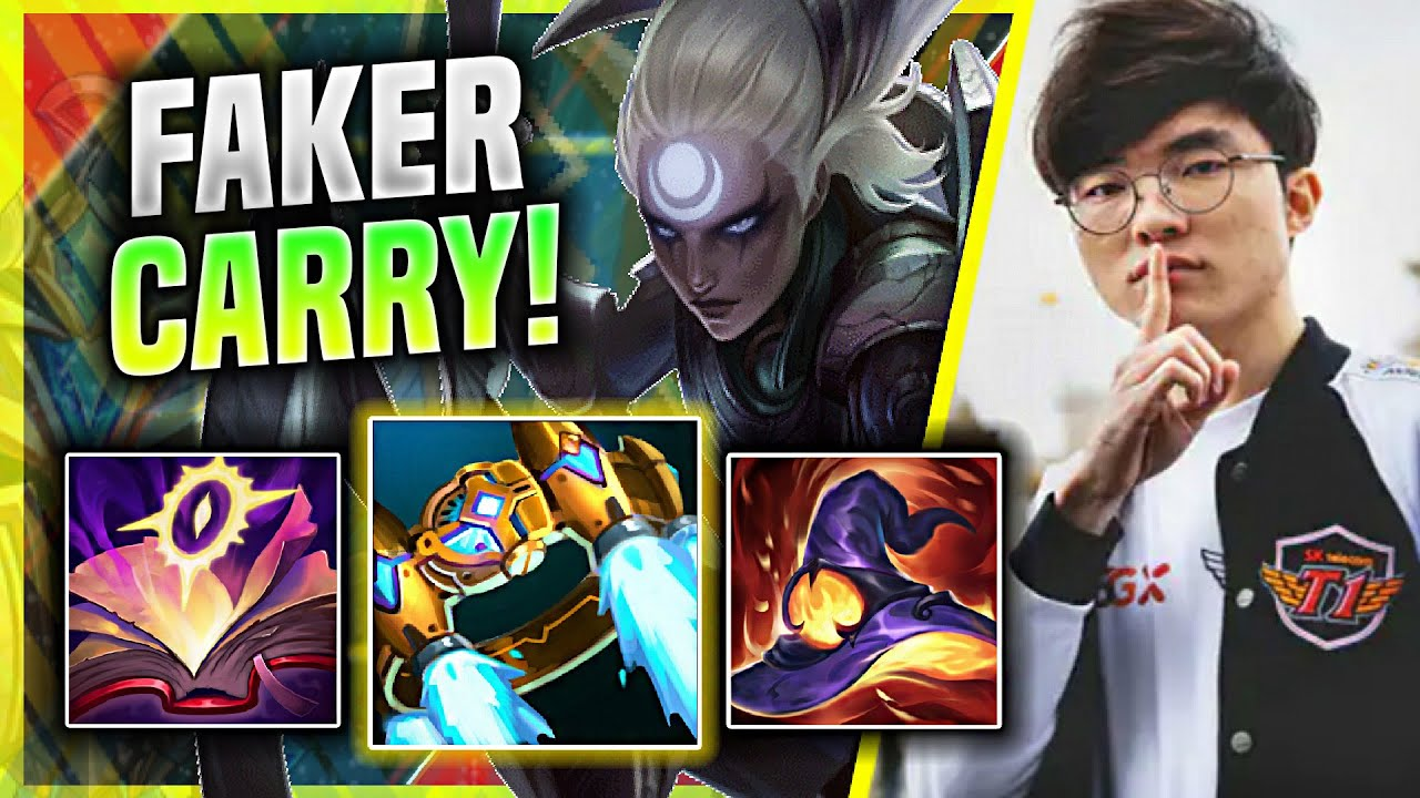 FAKER HARD CARRIED THIS GAME WITH DIANA! - T1 Faker Plays Diana Jungle vs Rumble! | Season 11