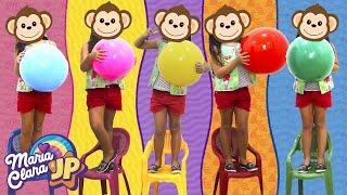 Música Cinco Macaquinhos Chanson Cinq petits singes Comptines Et Chansons À Bébé Chanson