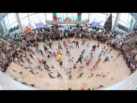 Новогодний флешмоб 2014 Аэропорт Домодедово