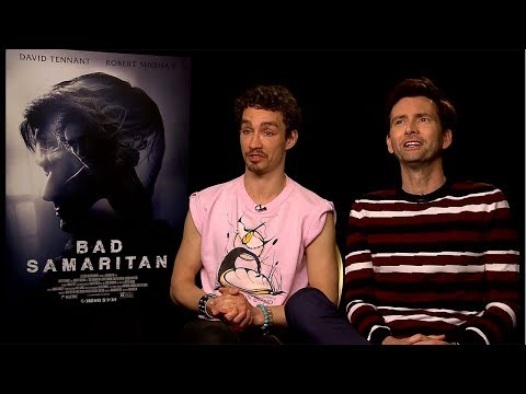 David Tennant & Robert Sheehan on Being Scared of Social Media (Bad Samaritan Interview)